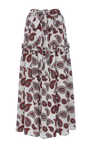 Medium dodo bar or print stevie paisley tiered maxi skirt
