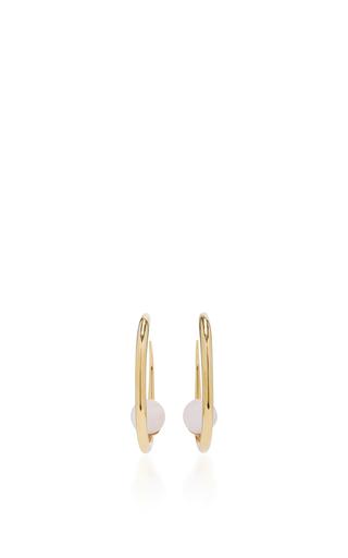 Medium khiry gold isha hoops crystal