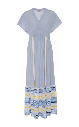 Medium lemlem blue mwali blue ruffle hem dress