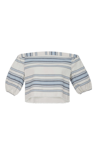 Medium lemlem stripe halima striped off the shoulder crop top