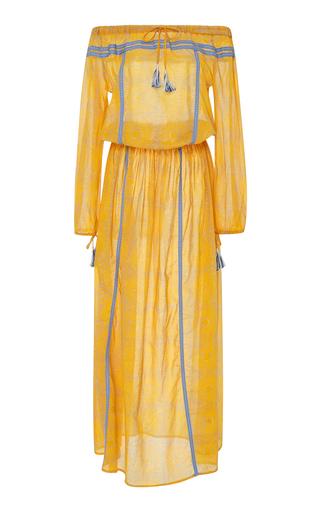 Medium lemlem yellow makena embroidered cotton maxi dress