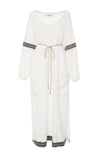 Medium lemlem white zana v neck kaftan