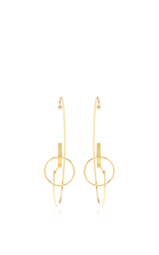 Medium paula mendoza gold bow earrings