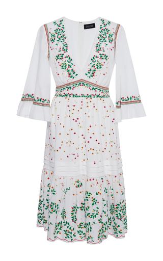 Medium saloni white june embroidered cotton dress