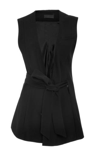 Medium haus alkire black bresson tie waist vest
