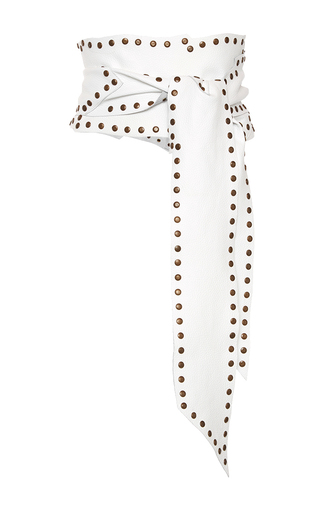 Medium philosophy di lorenzo serafini white studded wide belt