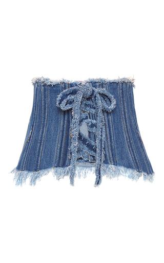 Medium philosophy di lorenzo serafini medium wash denim corset belt