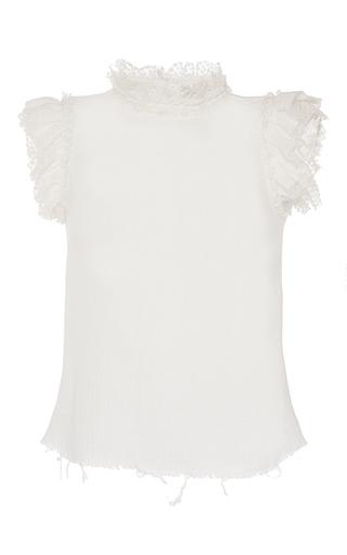Medium philosophy di lorenzo serafini ivory gauze ruffle blouse
