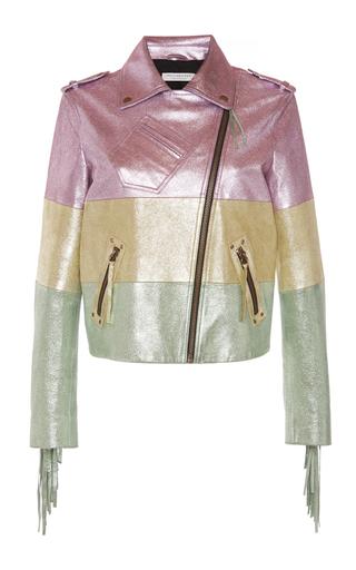 Medium philosophy di lorenzo serafini metallic lame leather jacket