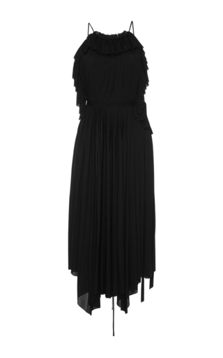 Medium philosophy di lorenzo serafini black ruffle a line dress