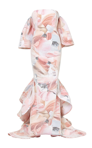 Medium maticevski print liberated ruffle gown