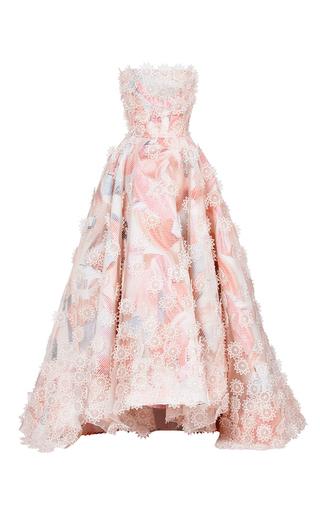 Medium maticevski print botanics layered gown