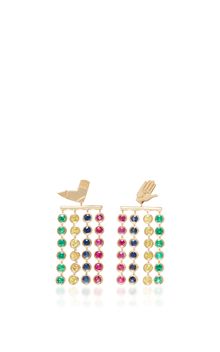 Medium alison lou multi twister drop earrings