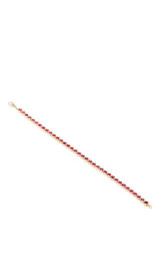 Medium alison lou red ruby tennis bracelet