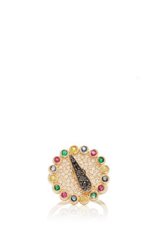 Medium alison lou multi blinged out spinner ring