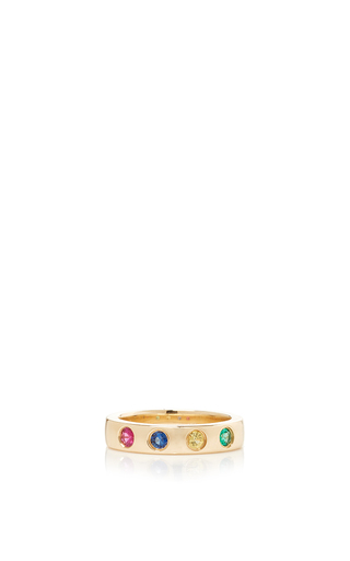 Medium alison lou multi 4 stones solitaire band