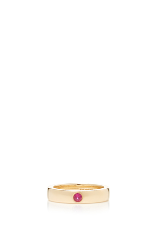 Medium alison lou red ruby solitaire band