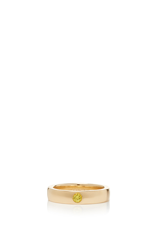 Medium alison lou yellow yellow sapphire solitaire band