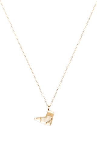 Medium alison lou gold foot pendant