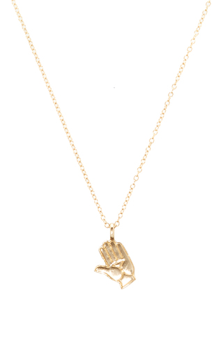 Medium alison lou gold hand pendant