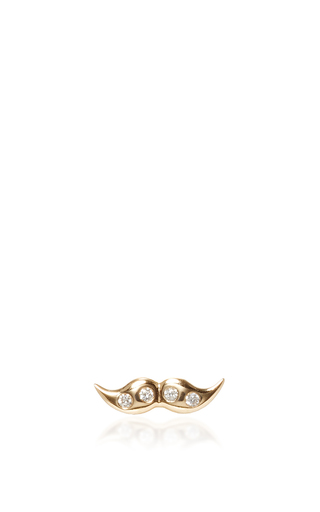 Medium alison lou gold mini mustache stud