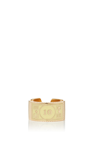 Medium alison lou yellow stackable 10 ring