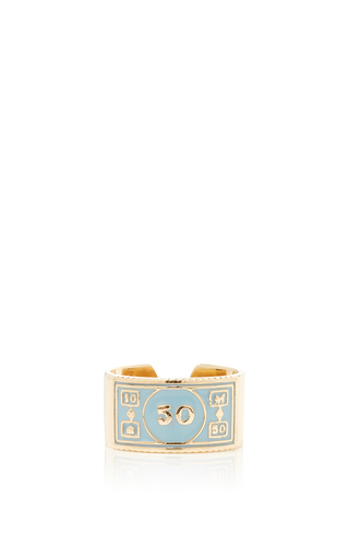 Medium alison lou blue stackable 50 ring