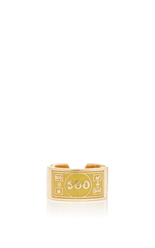 Medium alison lou gold stackable 500 ring