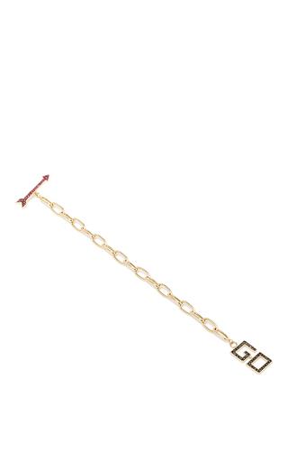 Medium alison lou red diamond go charm bracelet