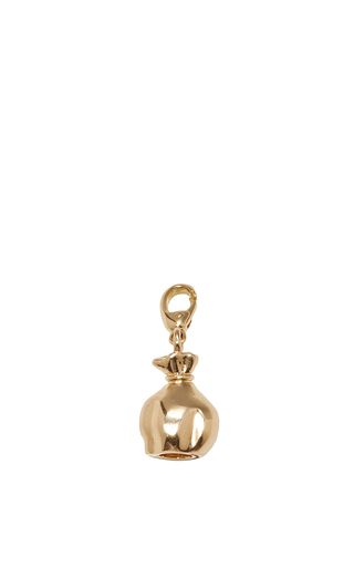 Medium alison lou gold money bag charm