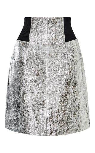 Medium kitx silver metallic leather skirt