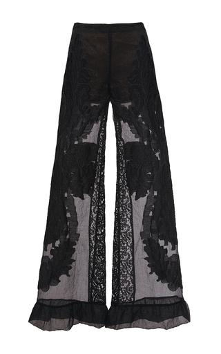 Medium alberta ferretti black jacquard trousers