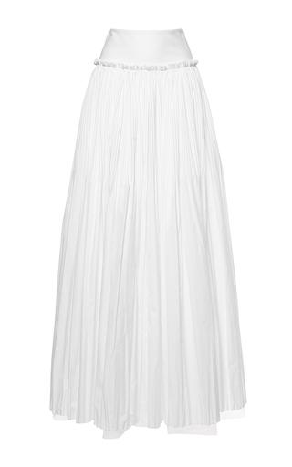 Medium alberta ferretti white poplin gathered skirt