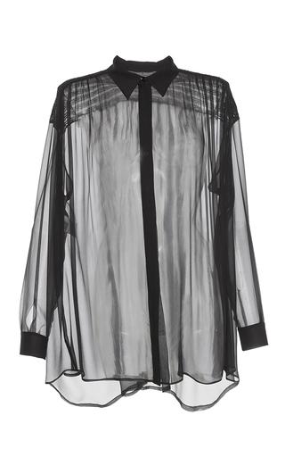 Medium alberta ferretti black chiffon button up blouse