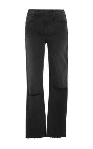 Medium frame denim dark wash le high straight leg jeans