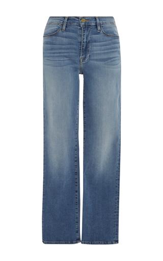 Medium frame denim light wash le high straight leg jean