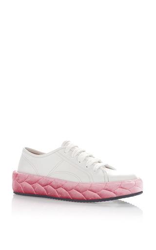 Medium marco de vincenzo white white pink sneakers