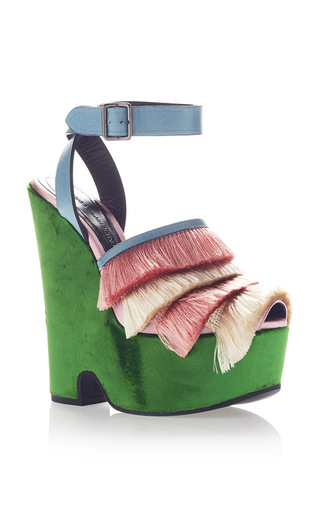 Medium marco de vincenzo green fringe platform