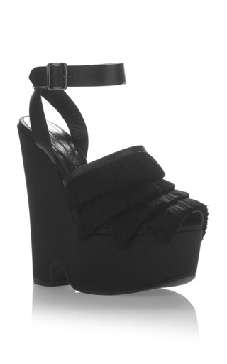 Medium marco de vincenzo black fringe platform 3