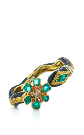 Medium david webb green couture vine bracelet