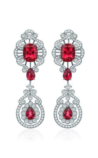 Medium garrard red peony earrings