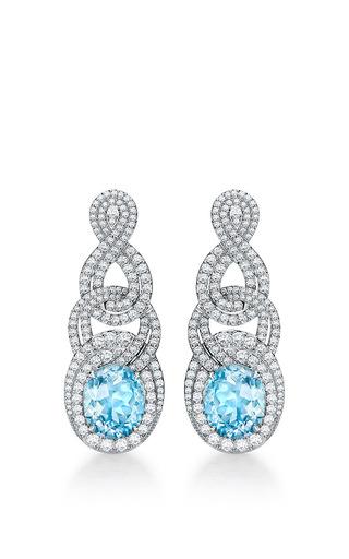 Medium garrard blue entanglement earrings