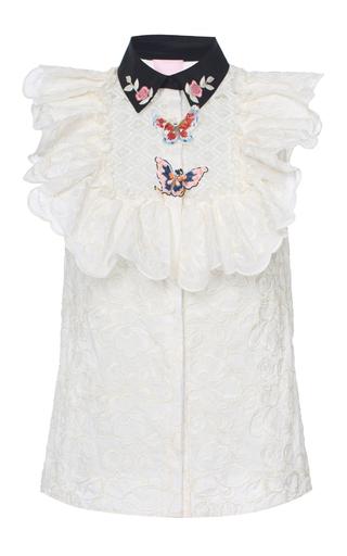 Medium giamba light pink ruffle blouse