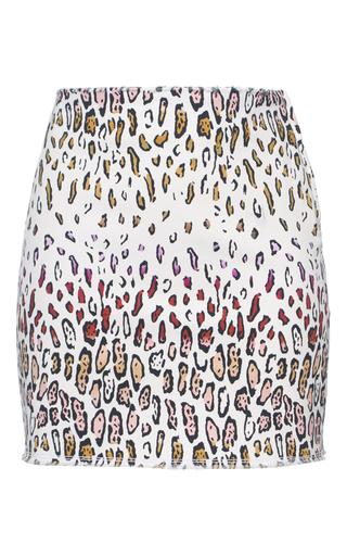 Medium giamba print cheetah mini skirt