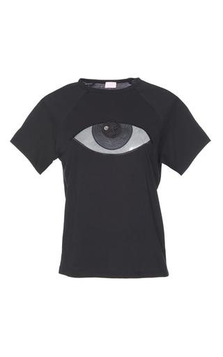 Medium giamba black sequin eye t shirt