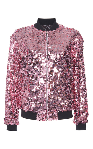 Medium giamba pink sequin bomber jacket