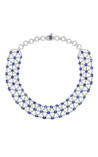Medium sutra blue sapphire necklace