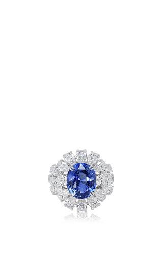Medium sutra blue sapphire ring