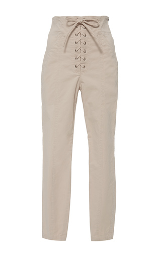 Medium a l c white kyle high rise lace up skinny pant