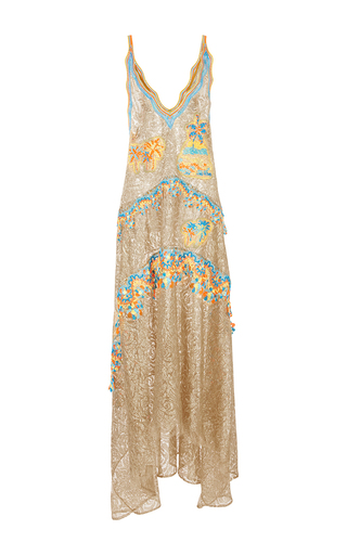 Medium peter pilotto gold embroidered lace gown